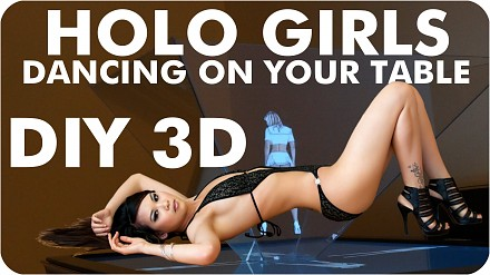 Zrób to sam: hologramowe dziewczyny tańczące na twoim stole