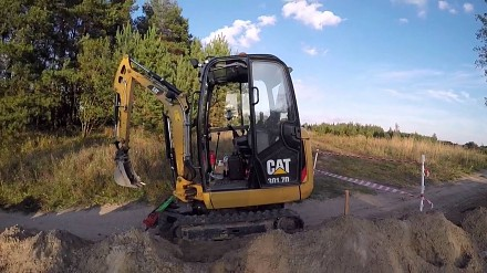 """Cat 301.7D mini """"kopaczka"""" - jeden dzień z życia operatora"""