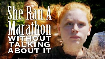 Przebiegła maraton, nie mówiąc o tym nikomu