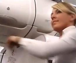 Gryfno ślonsko godka w samolocie