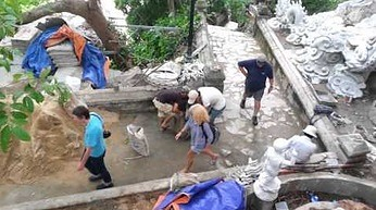 Wietnamska myśl budowlana - nożna betoniarka