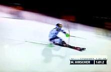 Dron atakuje narciarza podczas slalomu