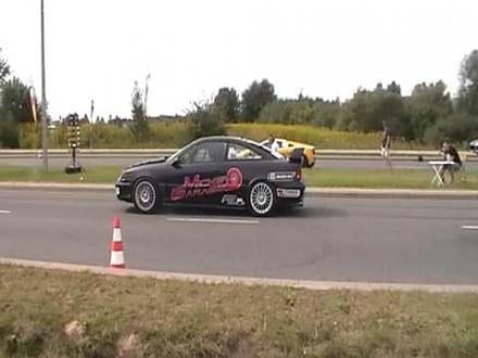 Calibra Turbo vs Lamborghini Gallardo SSS na 3 mazurskim motoshow