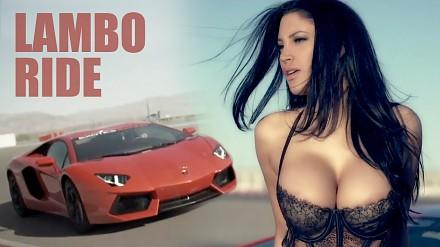 Seksowna Jesse w Lamborghini Aventador