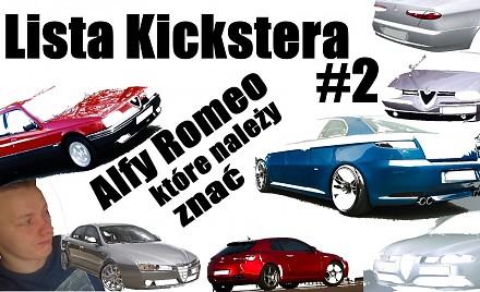 Lista Kickstera #2 - Alfy Romeo które należy znać