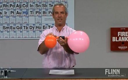 Eksperyment z dwoma balonami o różnych pojemnościach