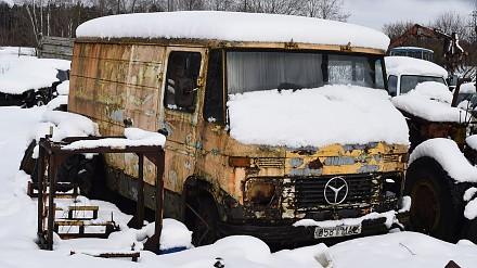 Mercedes-Benz 407D - próba odpalenia po 12 latach stania