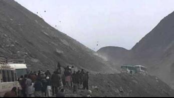 Lawina spadających kamieni w Pakistanie