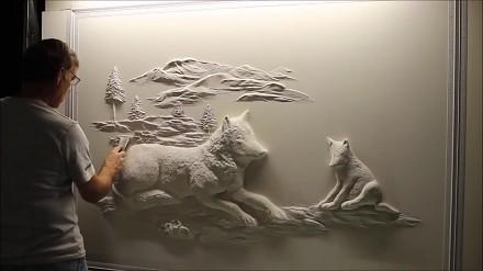 Tynkarz Bernie Mitchell i jego niesamowite dzieło sztuki