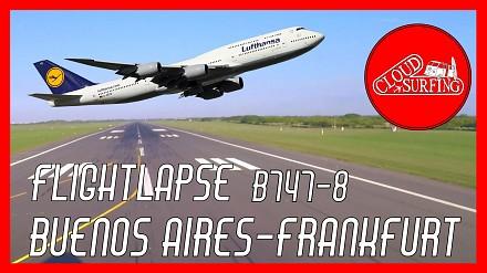 Przelot z Buenos Aires do Frankfurtu w przyspieszonym tempie