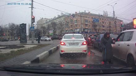 Wybredna żebraczka na rosyjskiej drodze