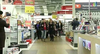 Flash Mob w rosyjskim MediaMarkt