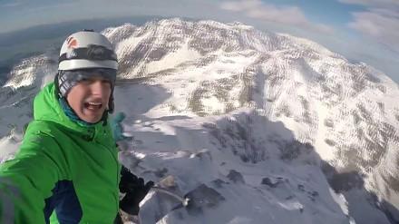 Freeride z największego szczytu w Tatrach Polskich