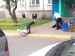 Geriatyczna walka pod blokiem