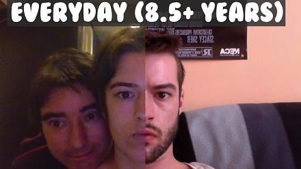 Hugo i jego przemiana - selfie codziennie przez ponad 8 lat