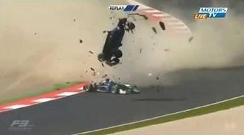 Spektakularny wypadek w Formule 3