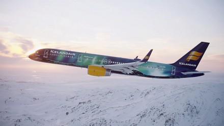 Malowanie zorzy polarnej na Boeingu 757