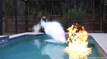 Ekspresowe gaszenie basenu ciekłym azotem