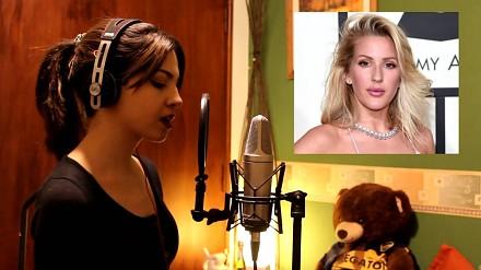 Ładna dziewczyna śpiewa 15 piosenek różnych piosenkarek