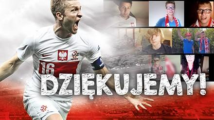 Kibice dziękują Reprezentacji Polski za EURO 2016!