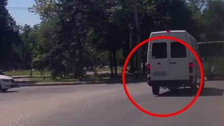 Ukraiński terminator, któremu nawet furgonetka niegroźna