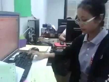 Kobieta robot, czyli przedłużenie klawiatury komputerowej