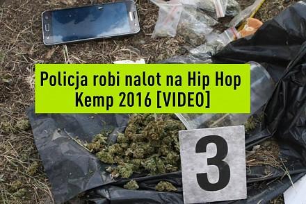 Nalot policji na pole namiotowe Hip-Hop Kemp 2016
