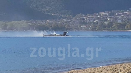 Grecki helikopter Apache rozbija się o wodę podczas ćwiczeń