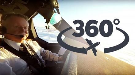 LOT Dreamlinera - 360° widok z kokpitu