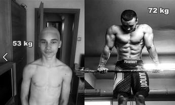 Niesamowita transformacja 15-latka (bez siłowni)