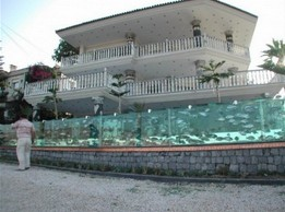 Niezwykła ściana-akwarium w Turcji