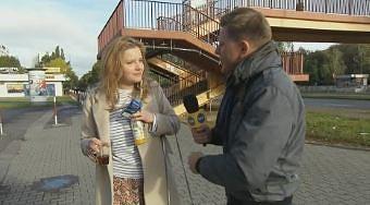 Filip Chajzer kręcąc reportaż spotyka baletmistrzynię Agatę