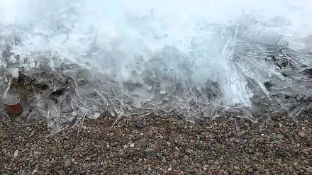 Zamarzające fale? To dzieje się teraz na jeziorze Bajkał