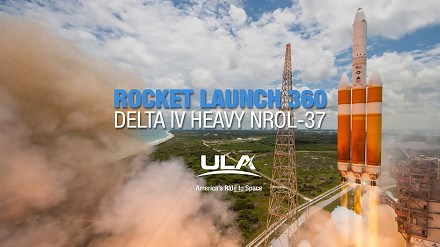 Start rakiety Delta IV Heavy z bliska