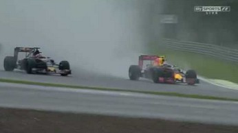 Pokaz umiejętności młodego kierowcy - nowy Senna?