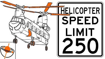 Dziś dowiedziałem się, że maksymalna prędkość helikopterów jest ograniczona