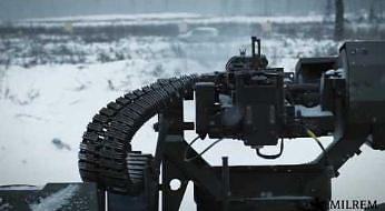 Ostre strzelanie estońskiego robota bojowego