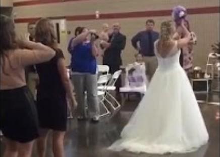 Niesamowity efekt działania bukietu ślubnego