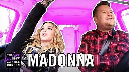 Madonna w samochodowym karaoke