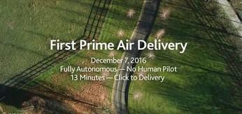 Drony już dostarczają zamówienia z Amazona
