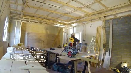 Time lapse - budowanie pokoju kinowego