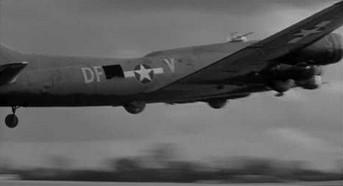 Niskie przeloty amerykańskiego czterosilnikowego bombowca B-17