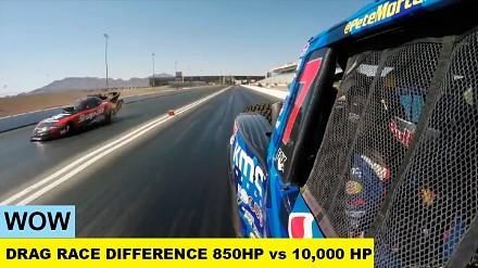 850-konny pojazd kontra dragster o mocy 10000 KM