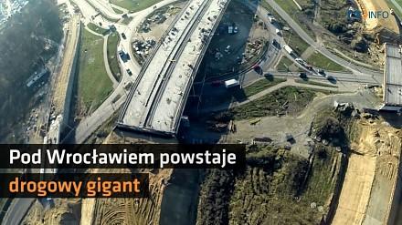 Niesamowite ujęcia z budowy drogi S5 - zobacz gigantyczny węzeł pod Wrocławiem!