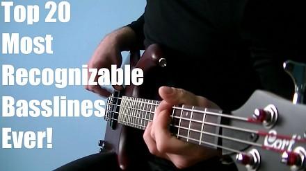 20 najbardziej rozpoznawalnych kawałków na gitarę basową!