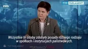 """Pani Beata zapytana o """"listę Misiewiczów"""" w spółkach Skarbu Państwa"""