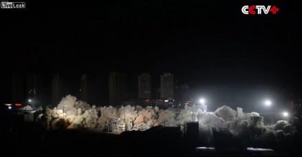 Chińczycy wysadzają 19 budynków jednocześnie