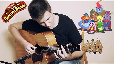 """Motyw z """"Gumisiów"""" na gitarze w wykonaniu młodego Polaka"""