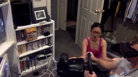 Życie partnera posiadacza gogli VR