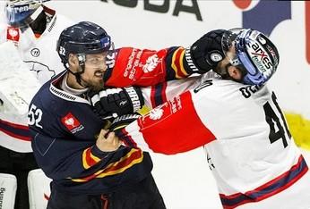 Prawie jak w NHL - walki w polskiej lidze